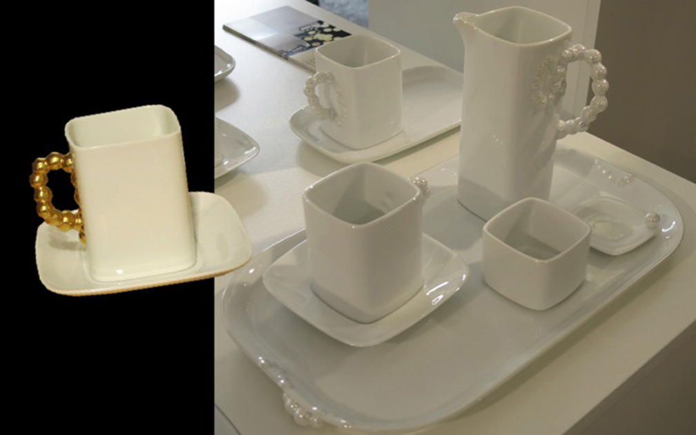 Herend's pearl inspired china