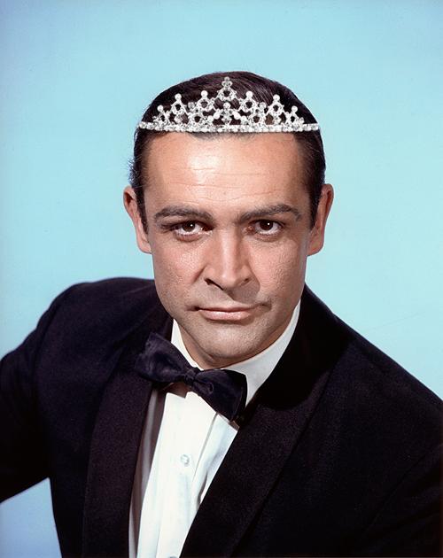 Sean Connery tiara via Soyons Suave blog