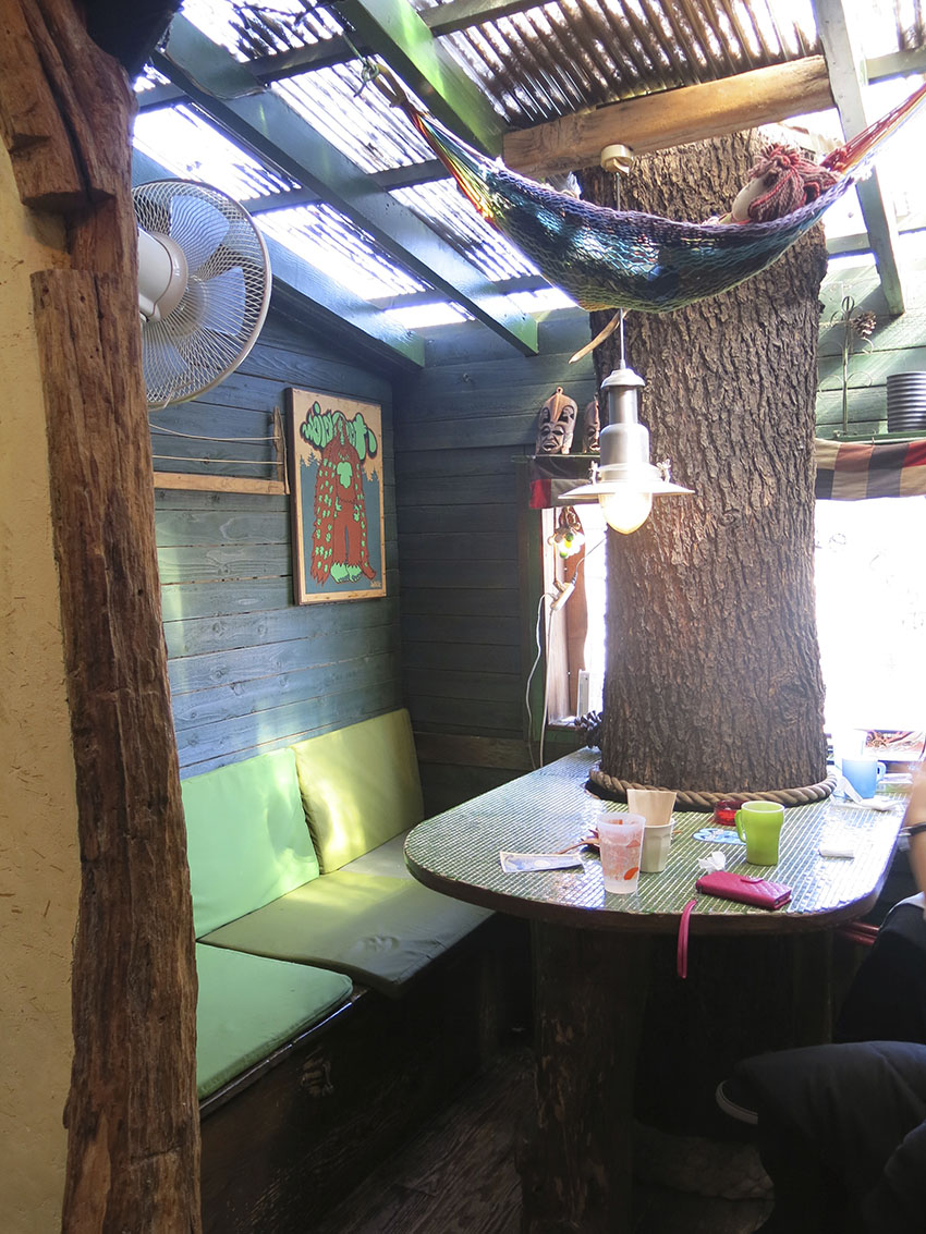 Sunny treehouse cafe - copyright Visuology