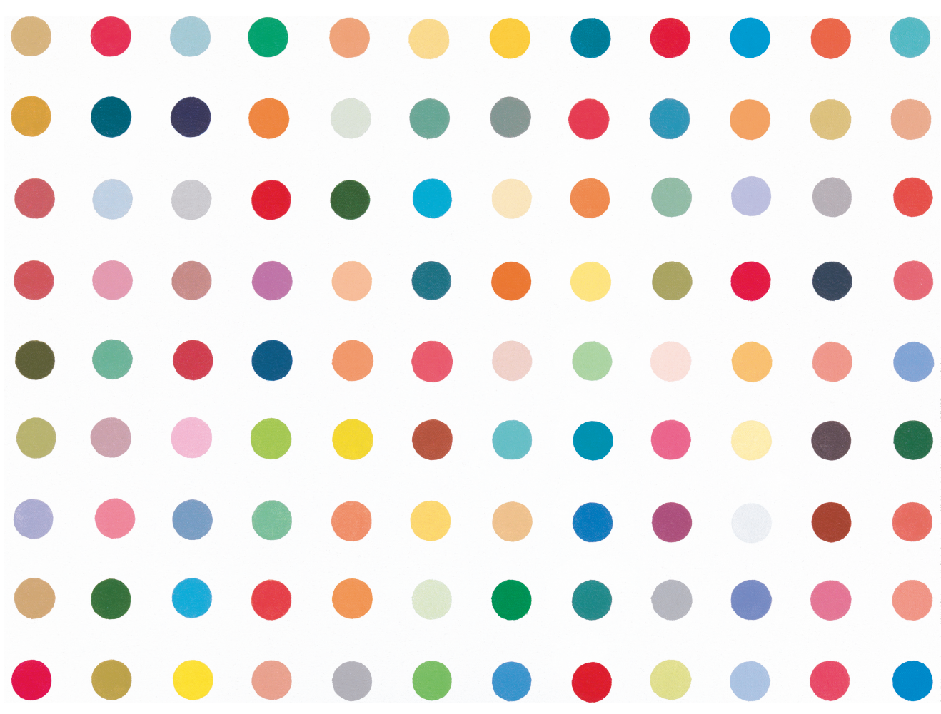 Damien Hirst dot painting