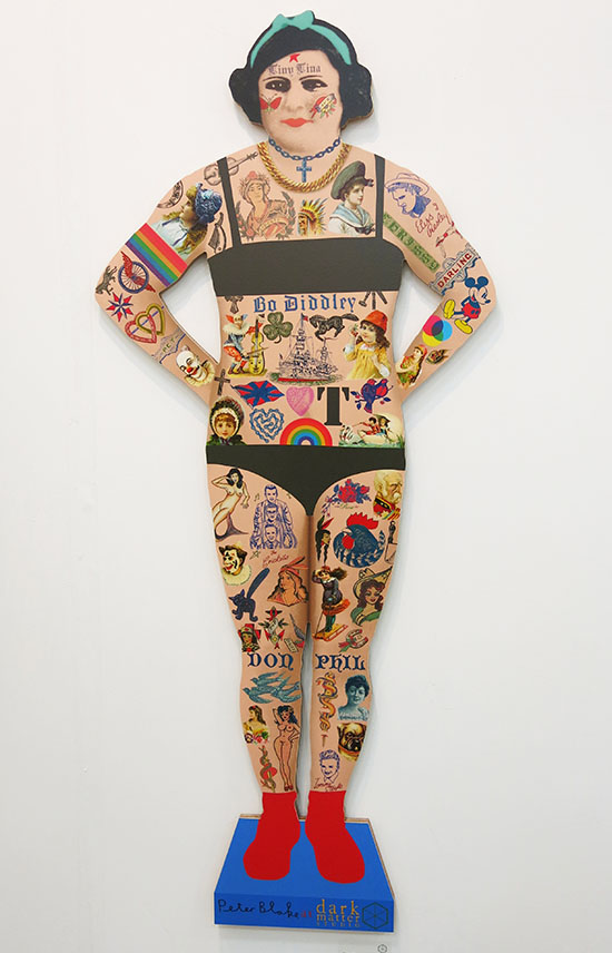 Tiny Tina the Tattooed lady by Peter Blake