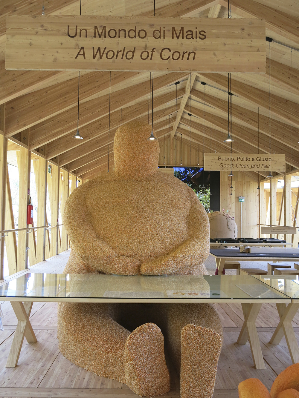 Corny sculpture at Milan Expo