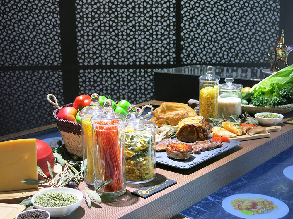 Qatari food display Milan Expo