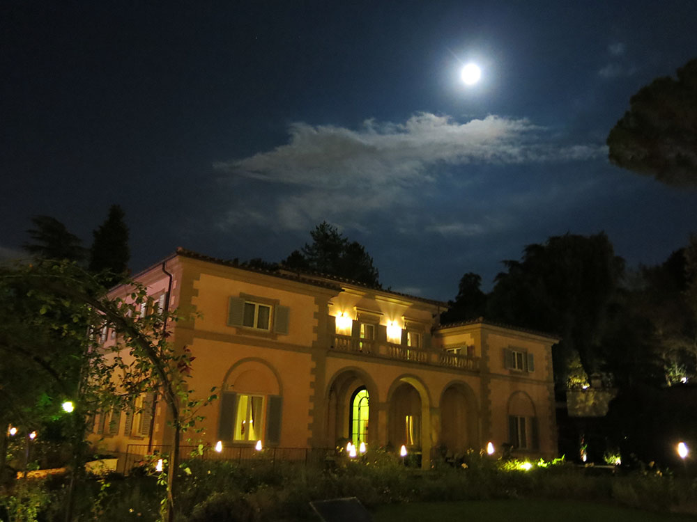 Moonlit villa