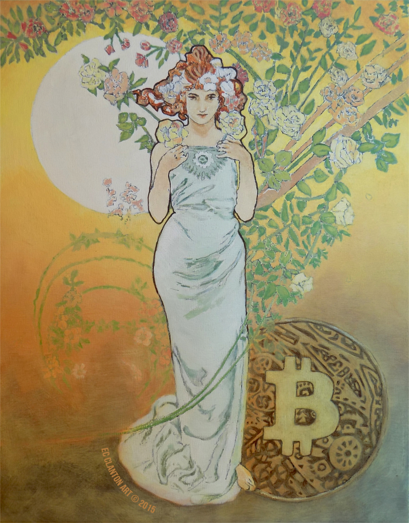 Colours of Bitcoin - Spring by EC Clanton