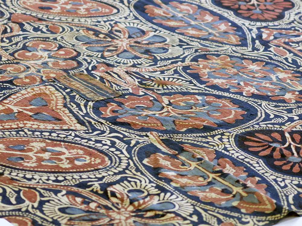 Repairs to cotton printed textile