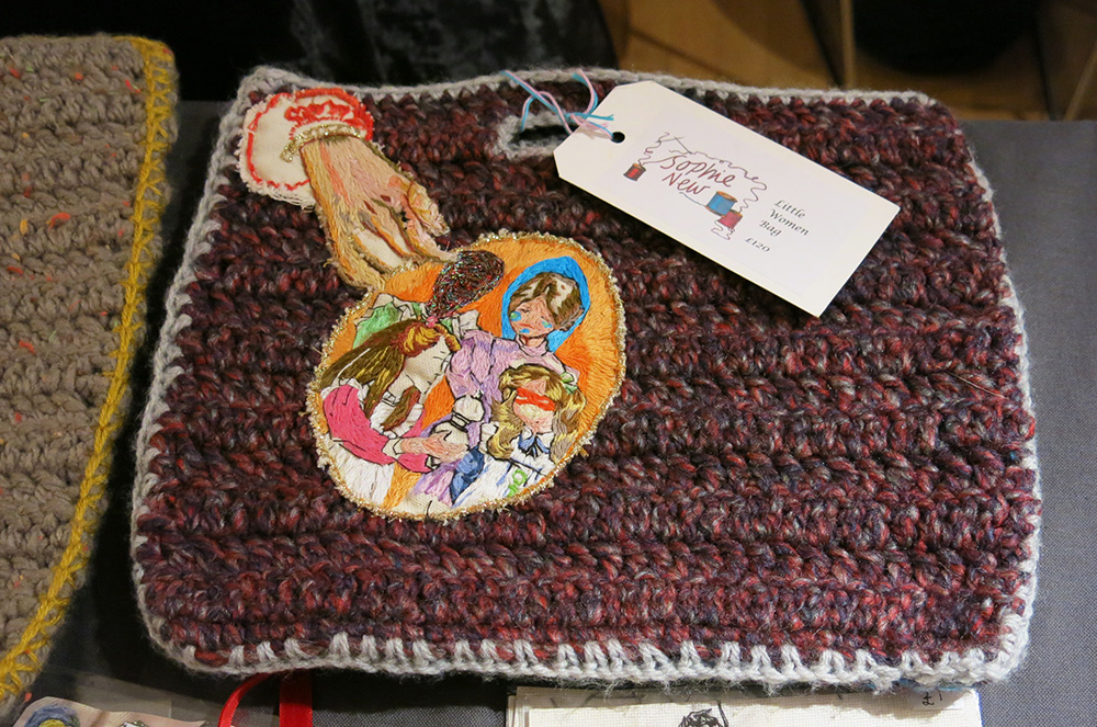 Crocheted and embroidered bag by Sophie New