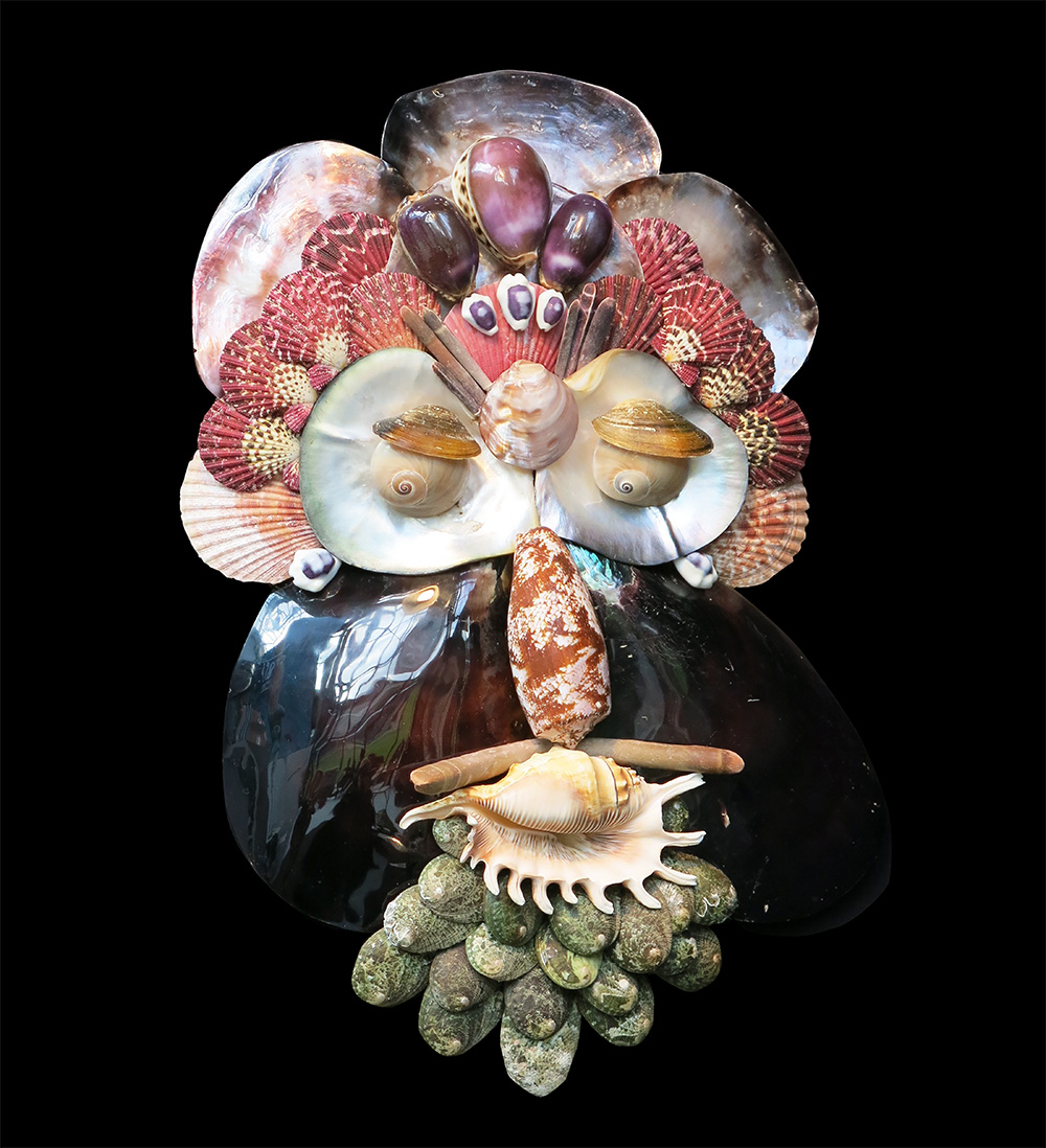 Caroline Perrin shell sculpture - Fall