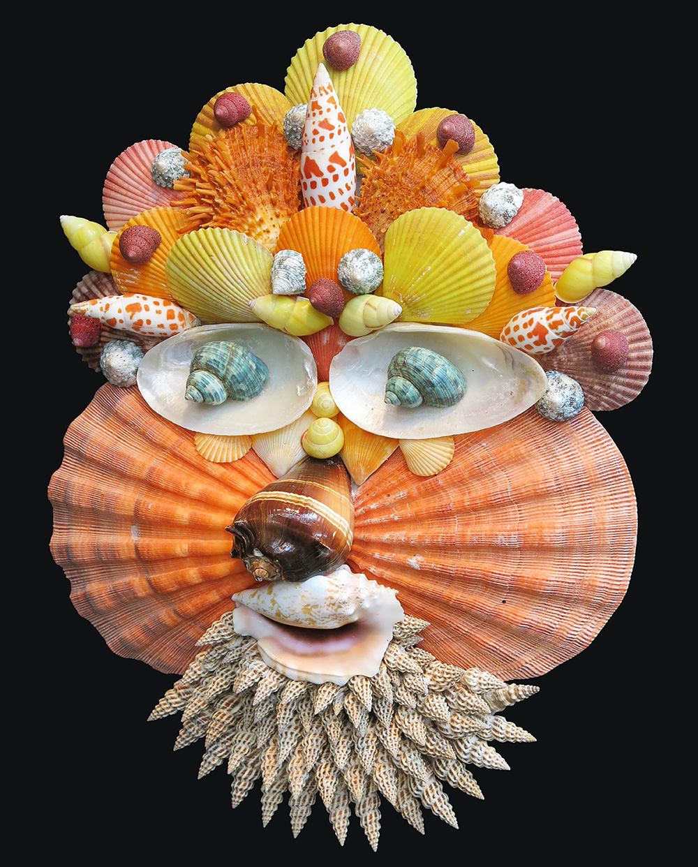 Caroline Perrin shell sculpture - Spring