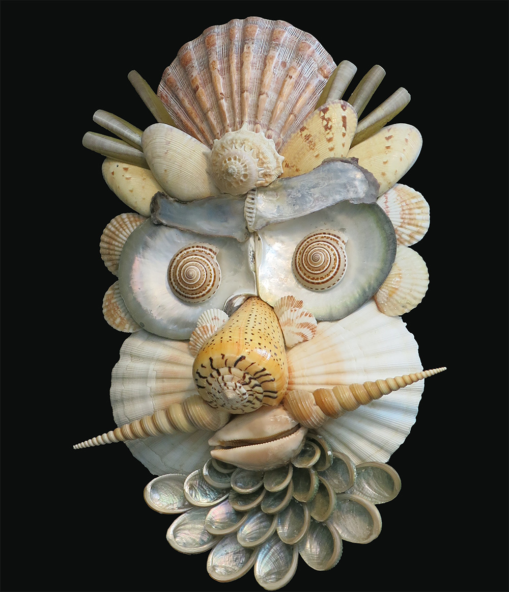 Caroline Perrin shell sculpture - Summer
