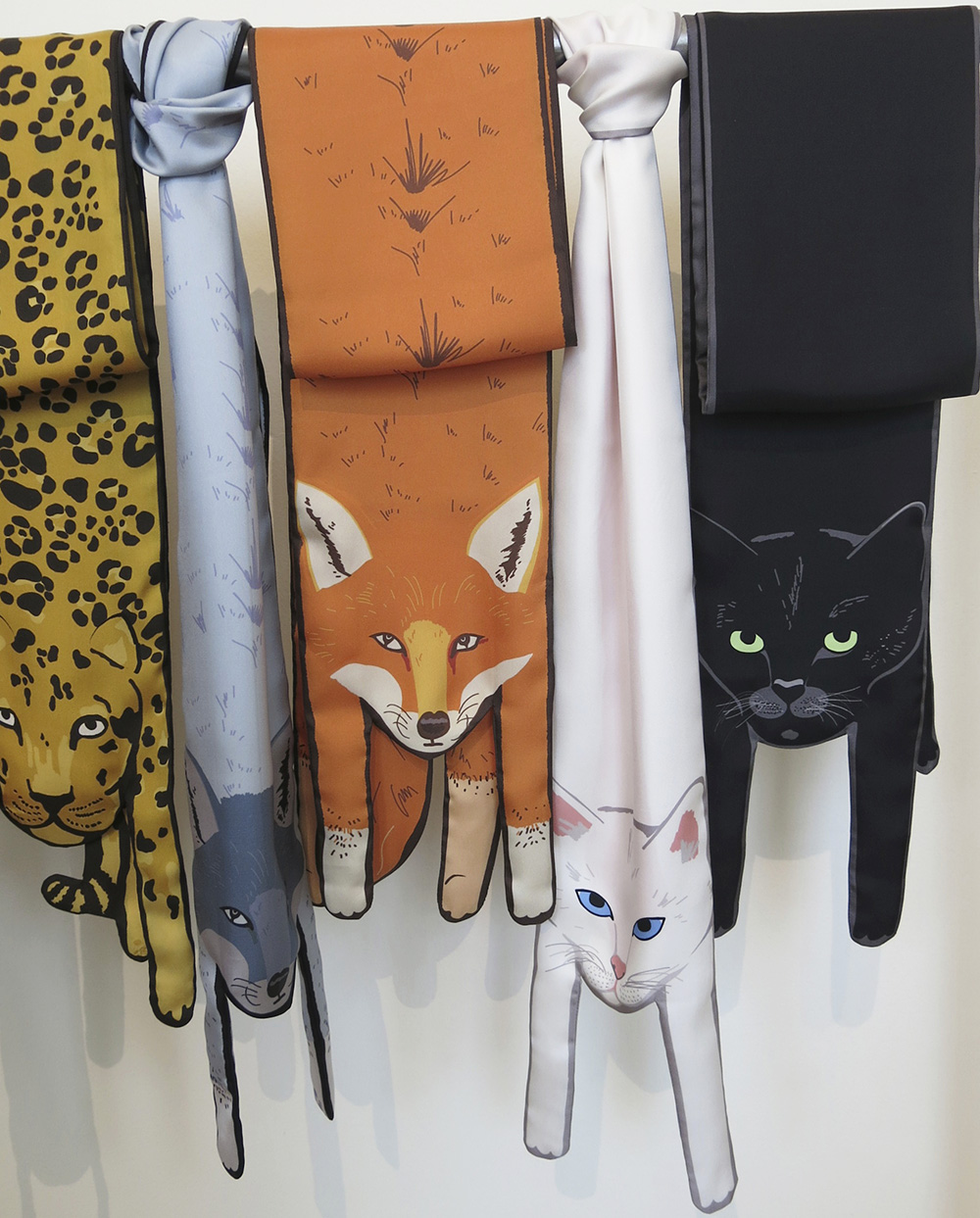 Cat scarves bu Cleo Ferrin Mercury