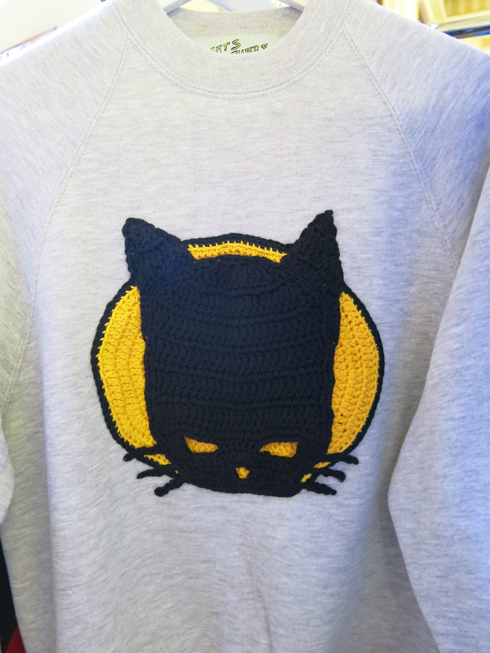 Cats Brothers crocheted sweatshirt