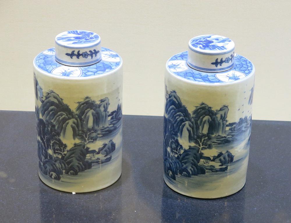 Chinese tea caddies