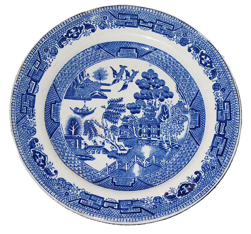 Willow pattern plate