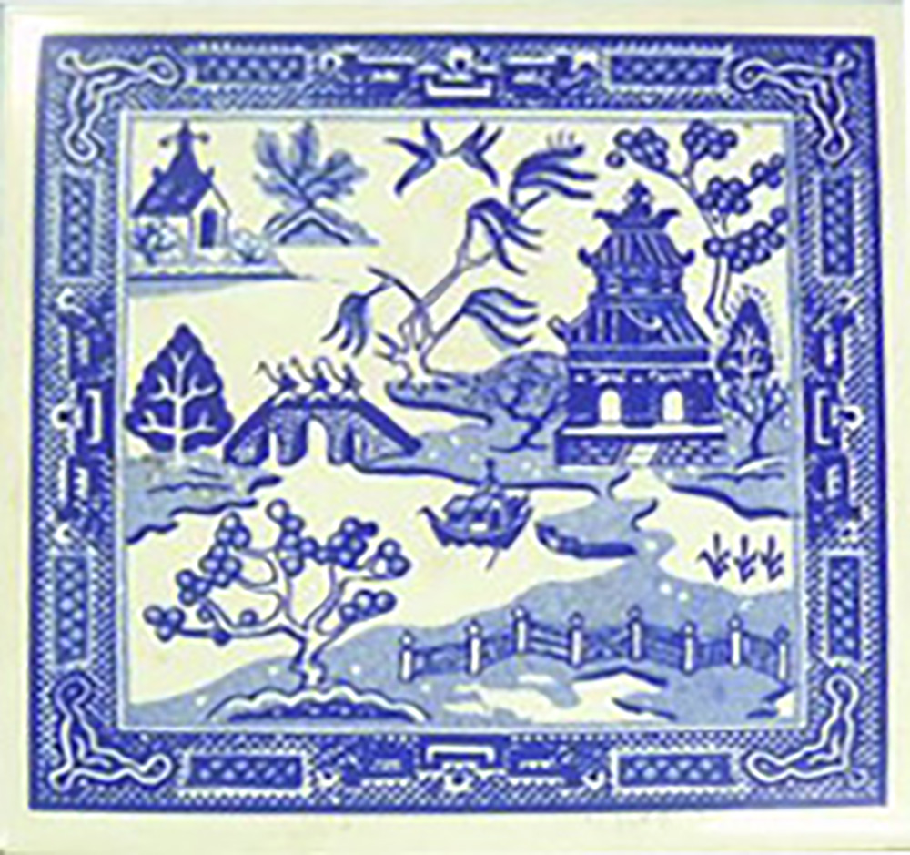 Willow pattern tile