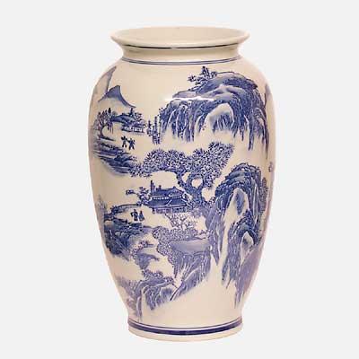 Willow pattern vase amiska.co.uk