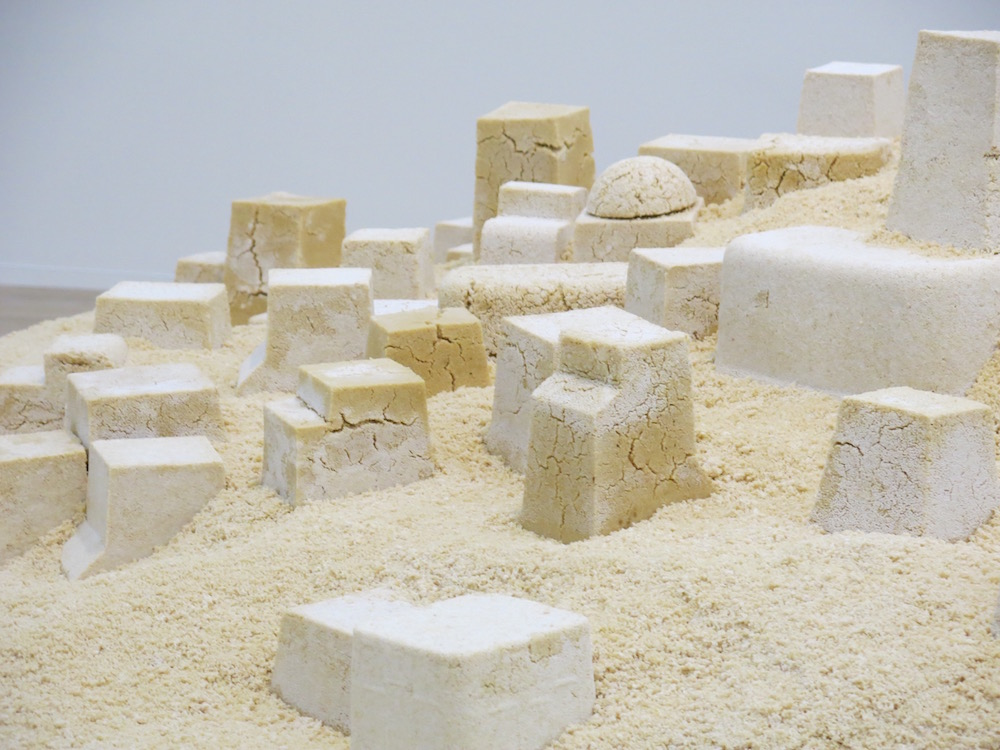 Couscous sculpture by Kader Attia