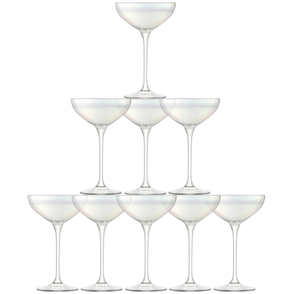 LSA International champagne Tower set - mother of pearl